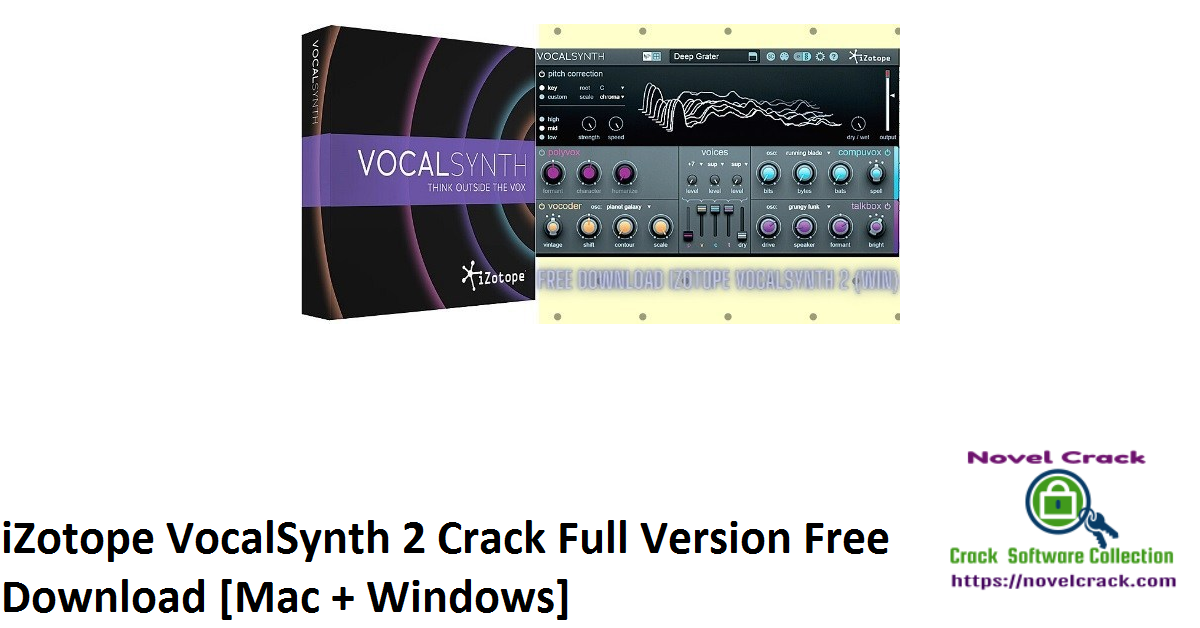 iZotope VocalSynth 2 Crack Full Version Free Download [Mac + Windows]